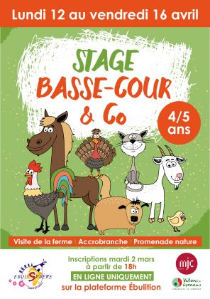 Stage Basse-cour & Co / Annulé